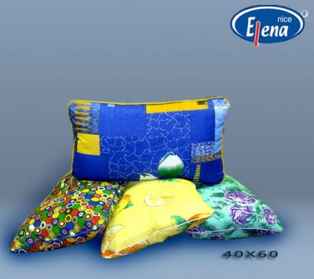 Подушка файбер 40х60; бязь кант