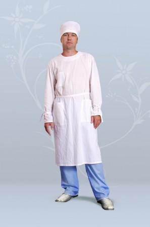 Халат хирургический мужской (бязь)