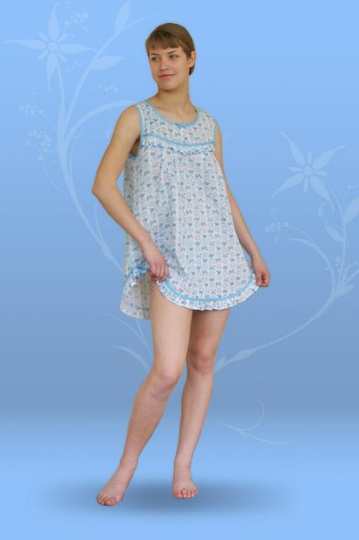 Сорочка ночная с рюшами (ситец)