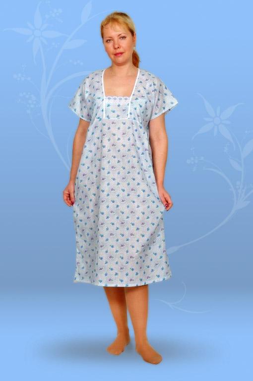 Сорочка ночная с шитьем (ситец)