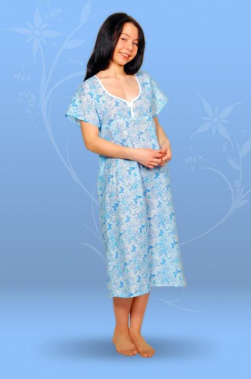 Сорочка ночная с бантиком (ситец)