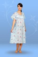 Сорочка ночная с круглой кокеткой (ситец)
